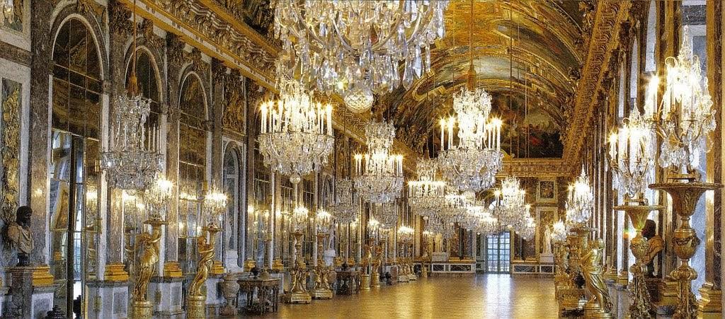 Galería de los espejos del Palacio de Versalles, París