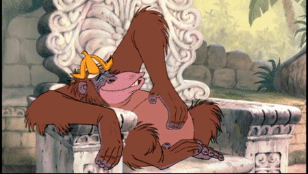 King Louis in Disney's The Jungle Book http://animatedfilmreviews.blogspot.com/2012/12/the-jungle-book-1967-bear-necessities.html