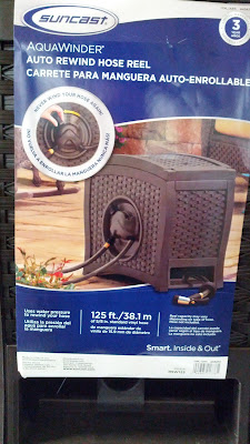 Suncast AquaWinder Auto Rewind Hose Reel for the backyard