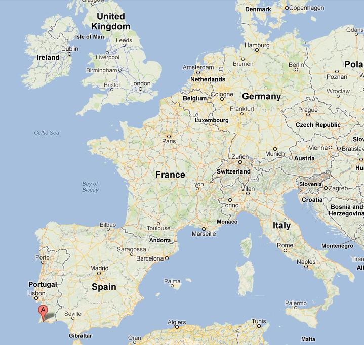 The Original Weather Blog Tornado Strikes The Algarve Region Of - Portugal map alvor