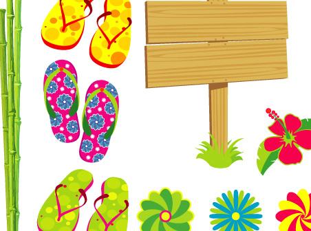Yaz mevsimi vektör arşivi