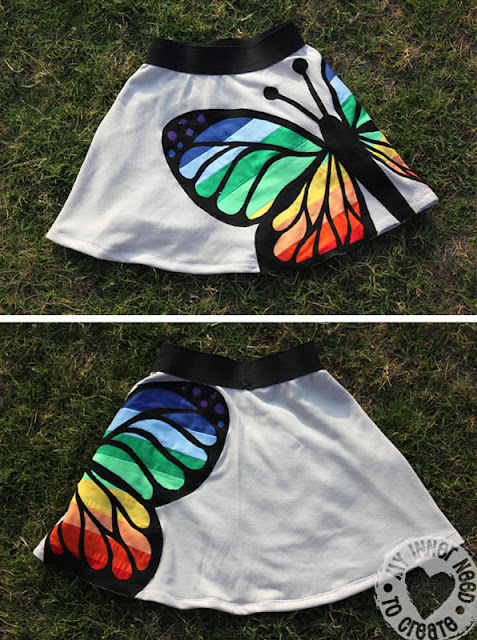 butterfly skirt sewing tutorial