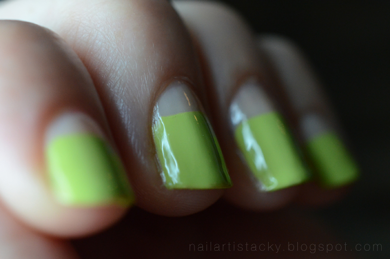 OCC Wasabi - Nail Art - Two Thirds Manicure