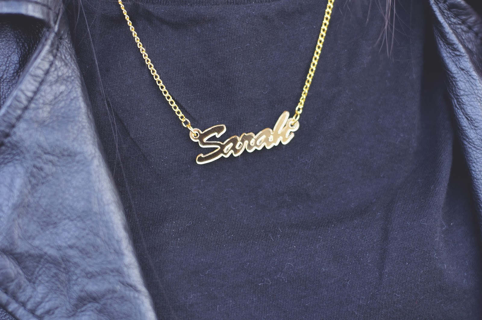 sex ad the city style name necklace, gold name necklace