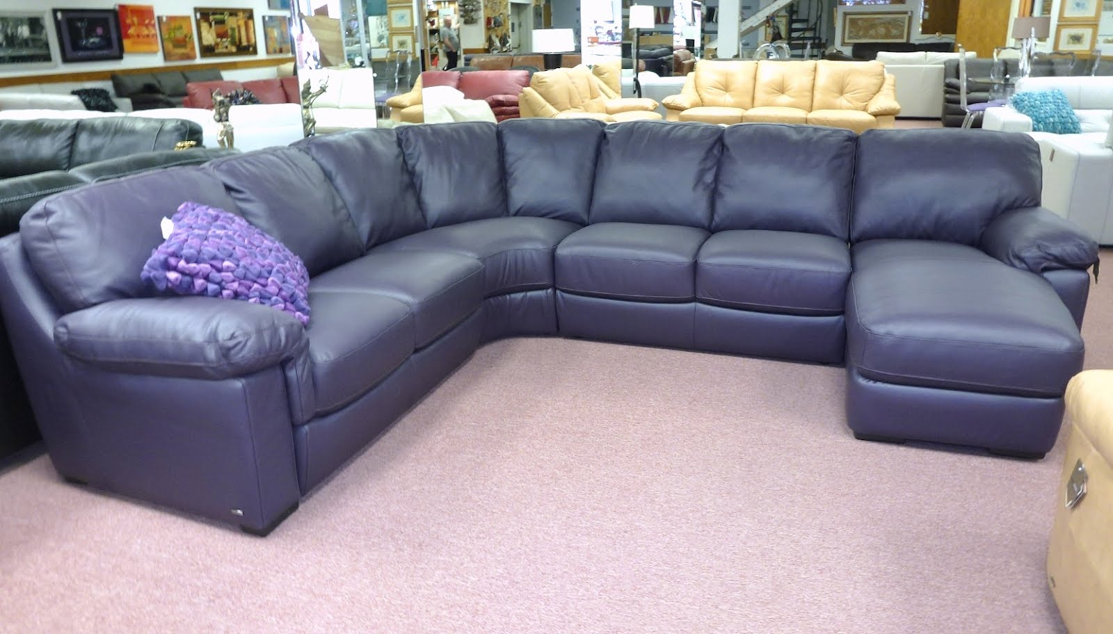 Natuzzi Leather Sofas amp Sectionals by Interior Concepts  : natuzzi purple leather sectional B626 from interiorconceptsfurniture.blogspot.com size 1600 x 912 jpeg 164kB