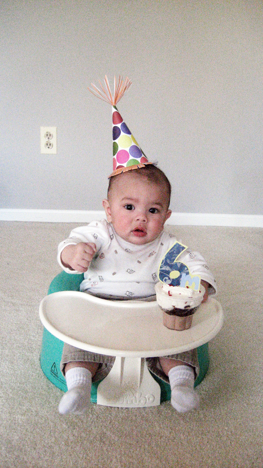 Jany claire diy party hat cameron 39 s 6 month celebration for 6 month birthday decorations