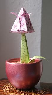 Origami Tulpe Blumen