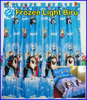 Gorden Motif Kartun Frozen, Gorden Karater Kartun Frozen, Gorden Motif Anak Frozen