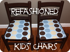 Refashioned Kids Chairs