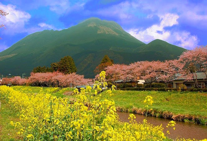 Picturesque scenery in Yufuin, Oita, Japan