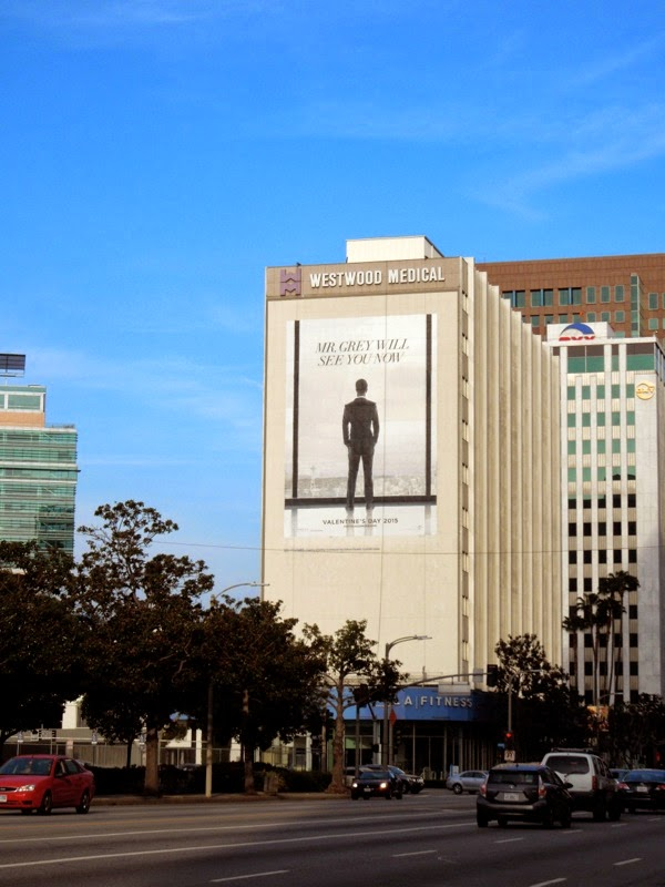 Giant Fifty Shades of Grey movie teaser billboard