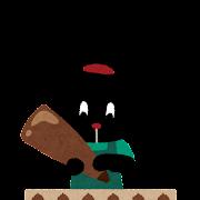 チョコレートを作っている ぴょこ のイラスト