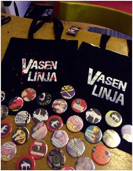 Vasen Linja -kangaskasseja & pinssejä