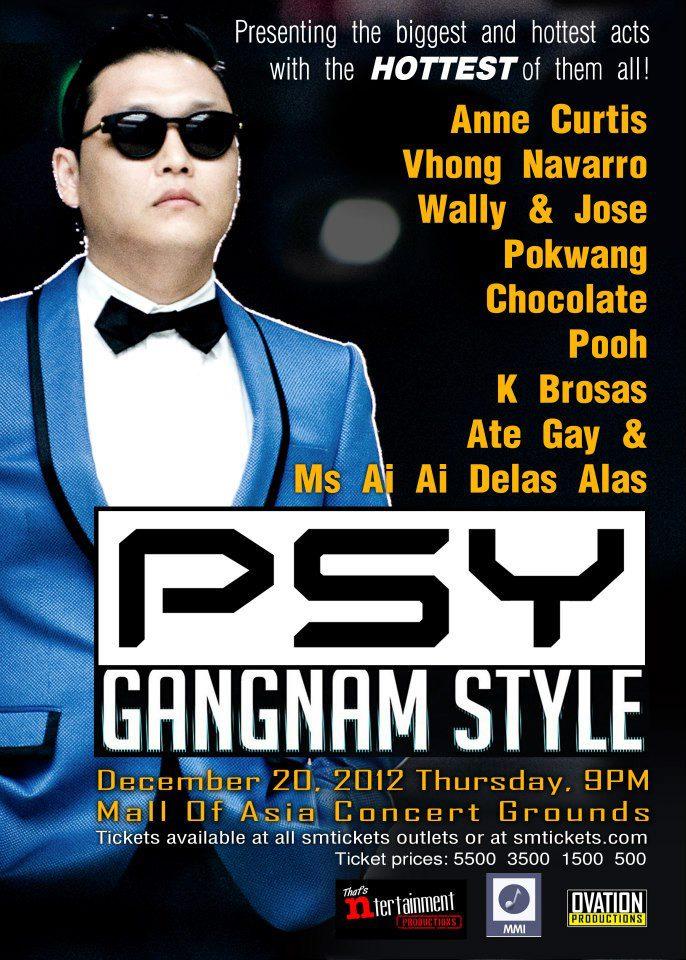 "Psy's ""Gangnam Style"" live concert 2012 in Manila Postponed"