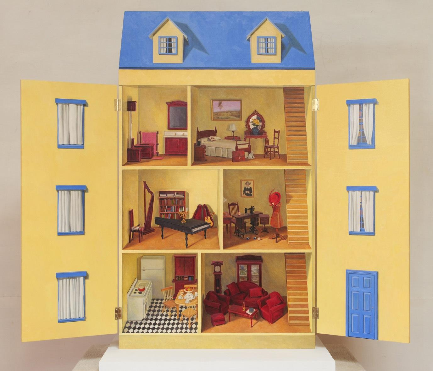 SHANE JONES ART BLOG: Doll's House Painting In Progress