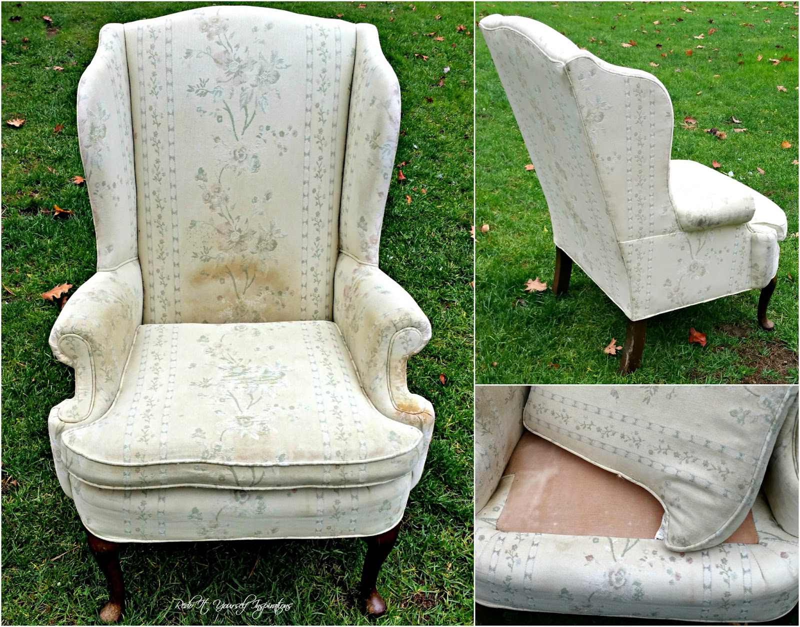 wing back chair makeover take a seat