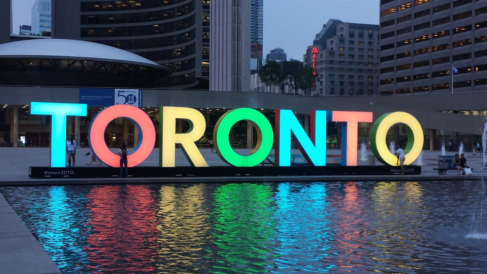 Toronto things: Toronto sign at City Hall