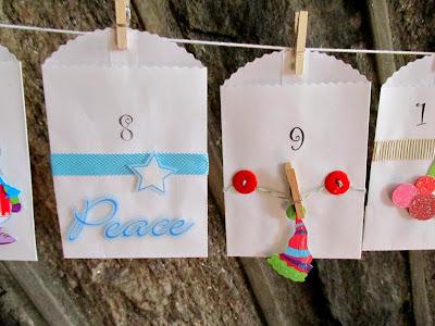 peace sign and advent calendar