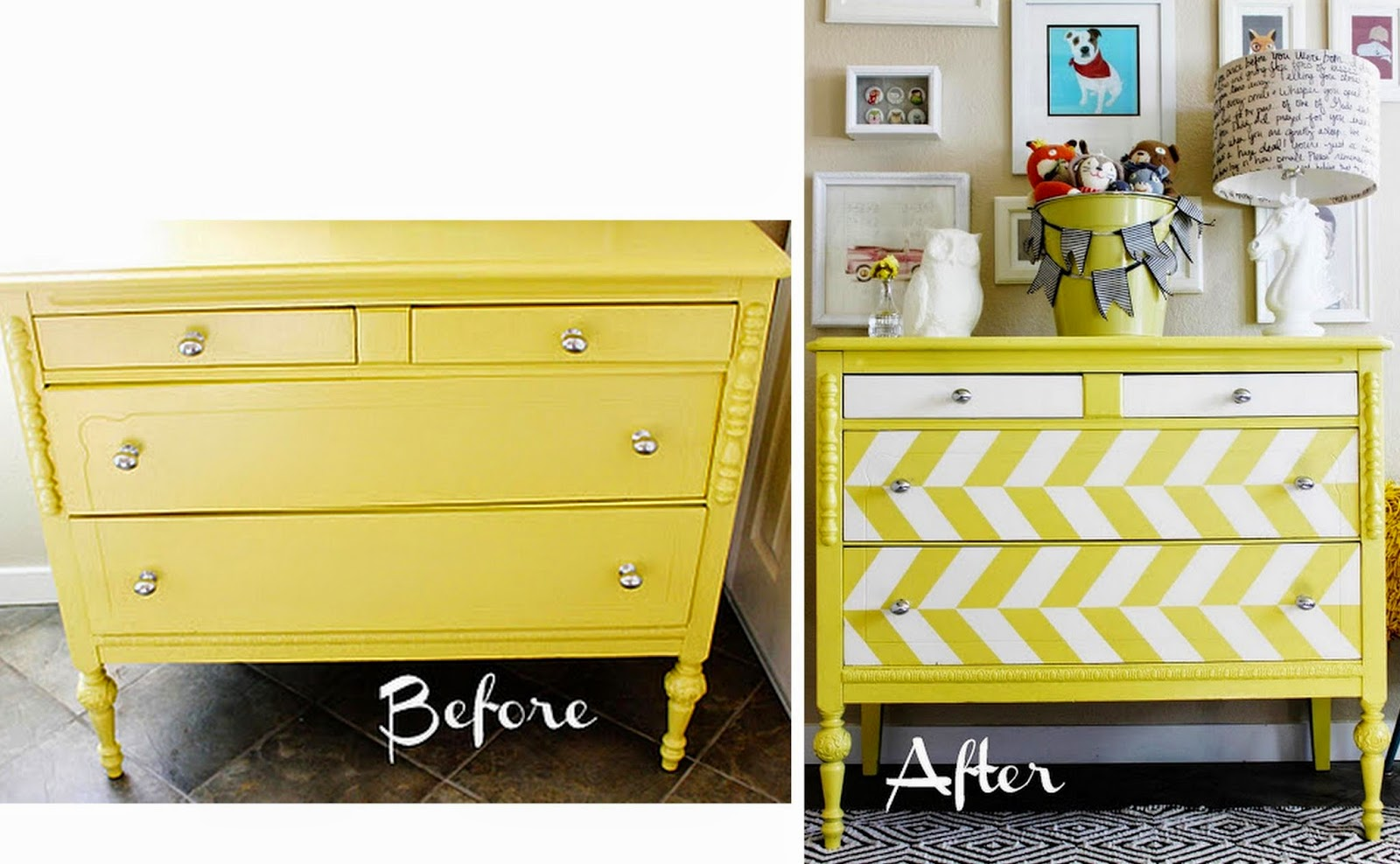 furniture refurbished. Furniture Refurbished. Refurbished Yellow And White Chest Of Drawers G