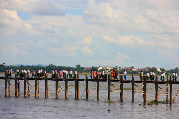 Puente de madera de teca más largo del mundo: puente U-Bein