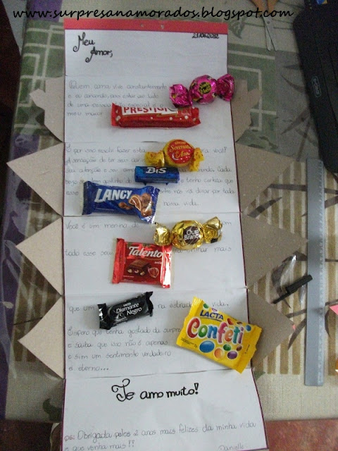 carta doce para o namorado