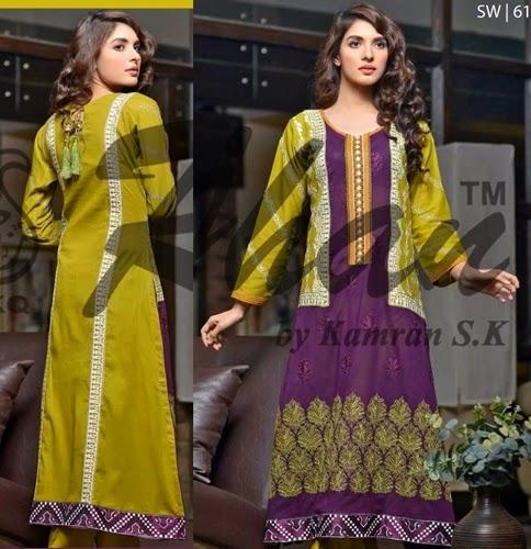 Rujhan Designer Embroidered Dresses 2015