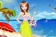 Deniz Kenarından Giyinen Kız Oyunu