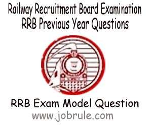 RRBs/RRCs Recruitment Written Examination Previous Years Solved Sample/Model Question Papers for Better Online Exam Preparation Part-VI