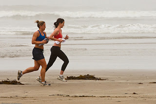 Two Women Running To Stay Fit And Lose Weight