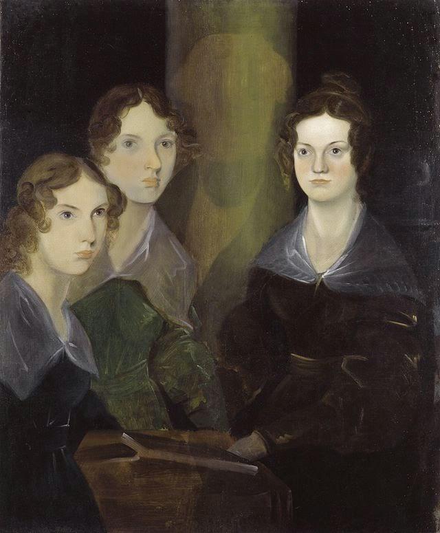 Anne, Emily, and Charlotte Brontë by Patrick Branwell  Brontë, 1834