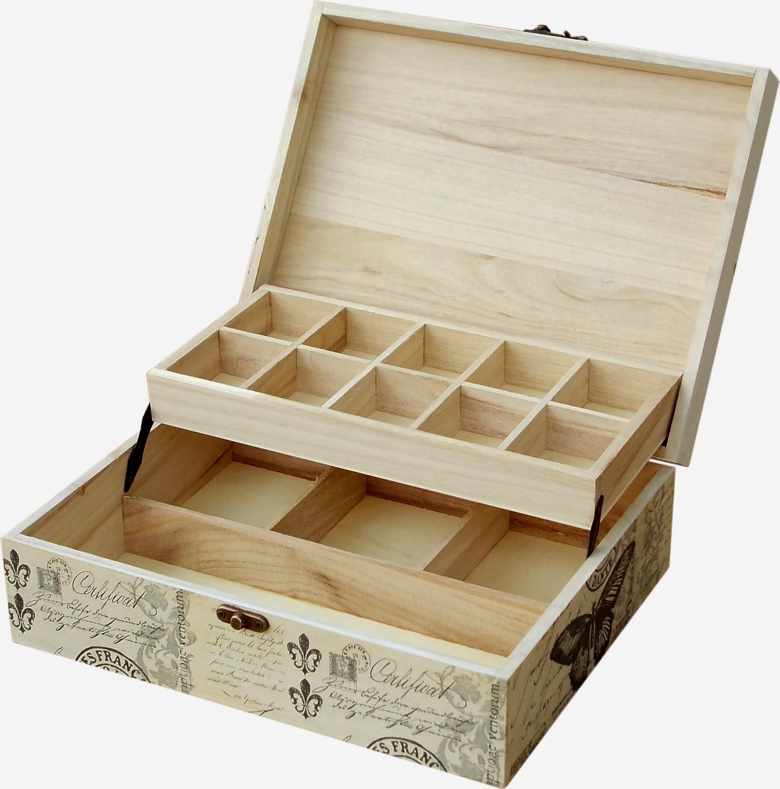 Como reciclar una caja de madera en un costurero el - Como construir una caja de madera ...