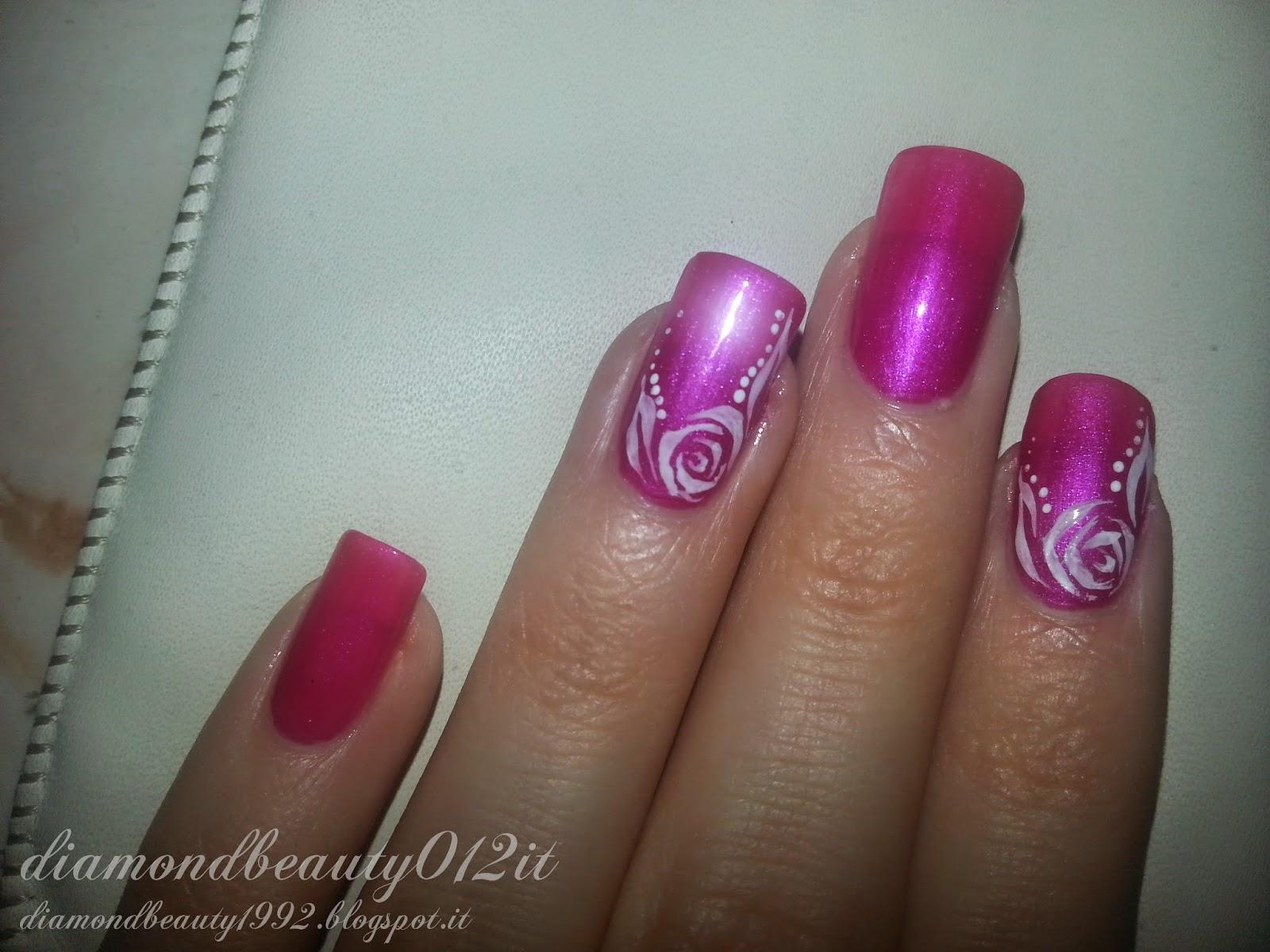 rosa d'inverno inspired nail art
