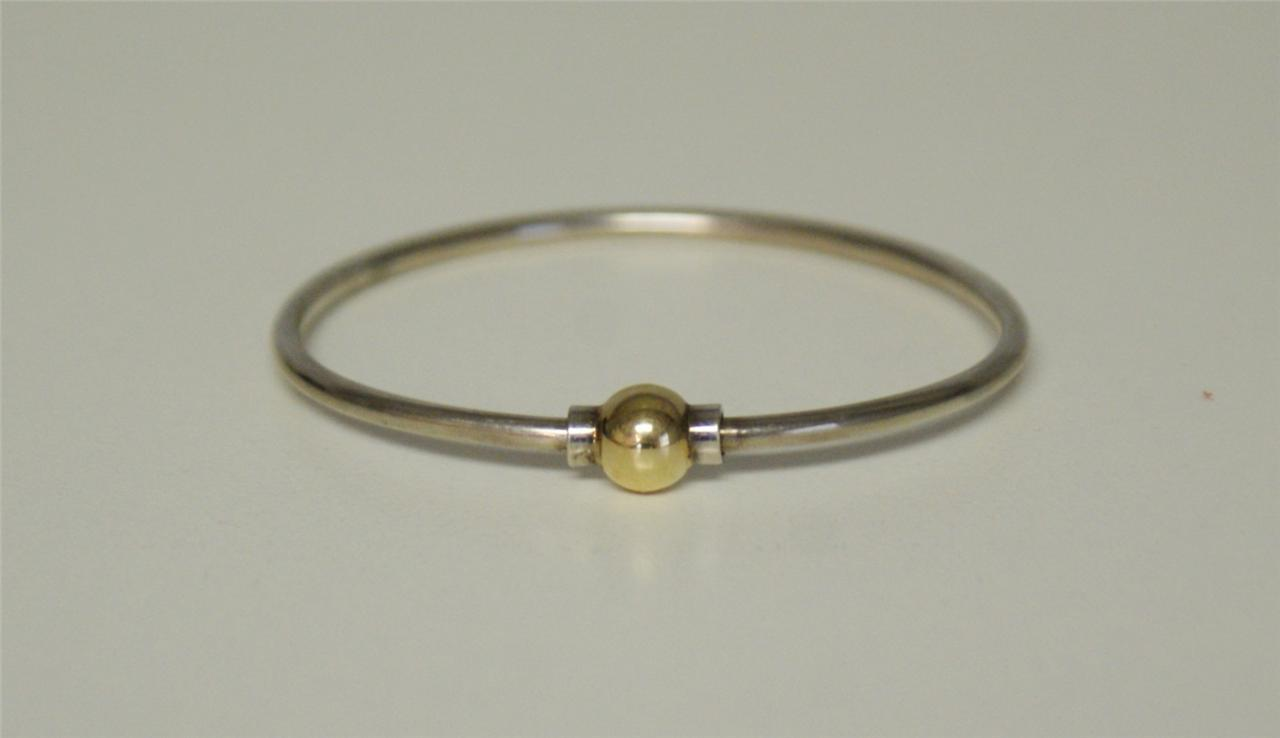 authentic cape cod sterling 14k screw bracelet size 6