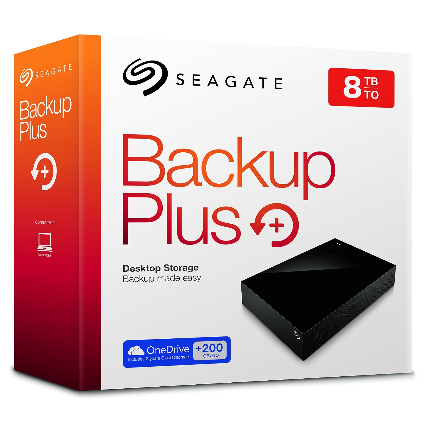 Seagate Backup Plus 8tb Desktop External Hard Drive With 200gb Of Cloud Storage Mobile Device Usb 3 0