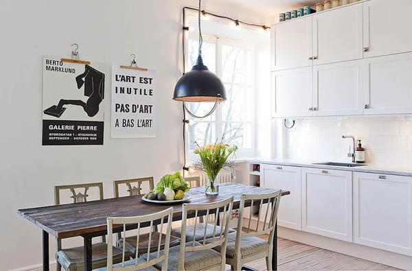 Hogares frescos piso de suecia con encanto y elegancia for Pisos decorados con encanto