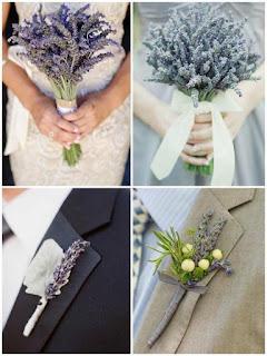 好少見到新人們彩用薰依草做結婚花球