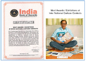 Most Awards / Exhibitions at Inter National Cartoon Contests