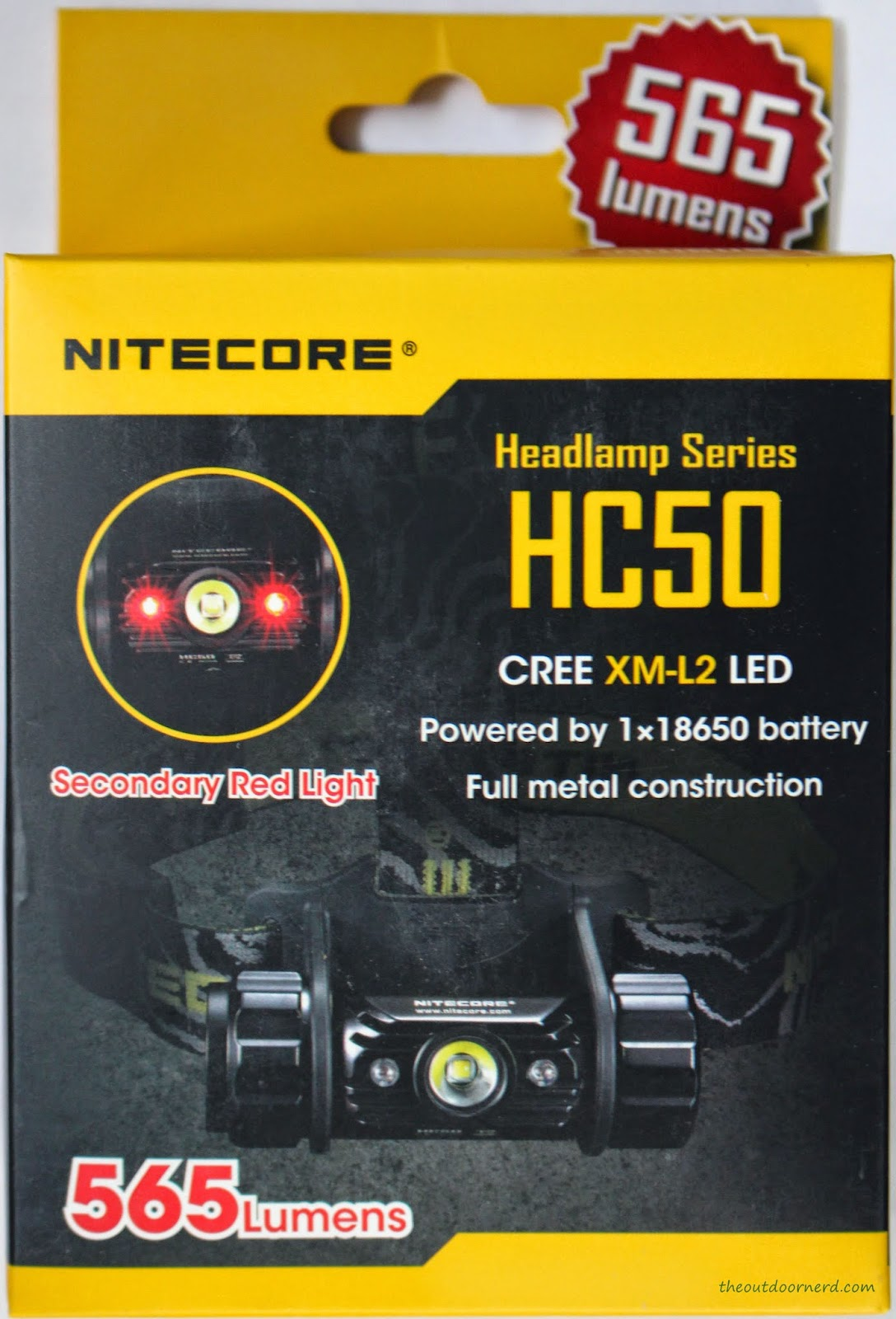Nitecore HC50 Headlamp Box 1