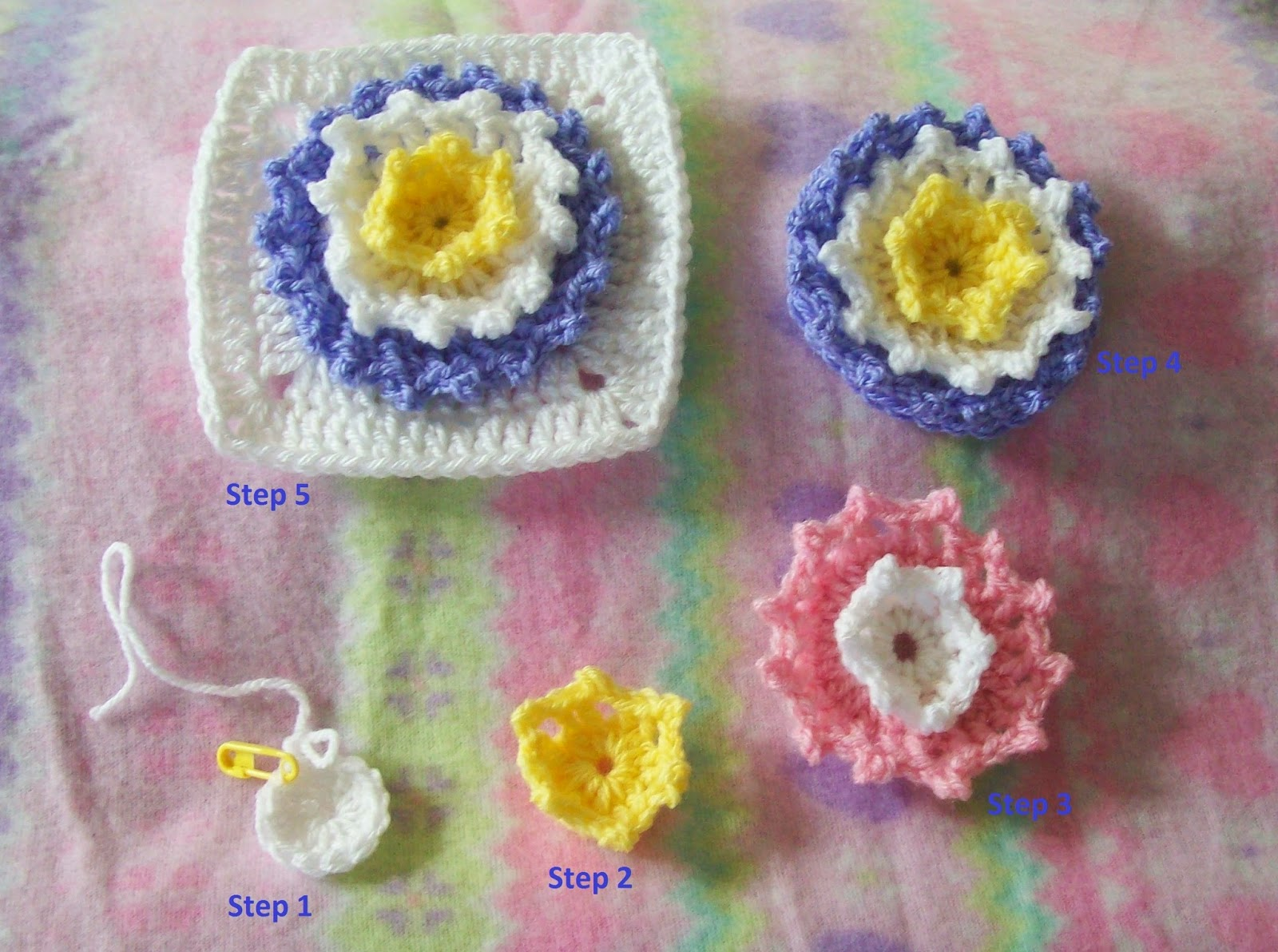 crochet flower square