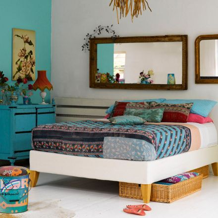 turquoise bohemian bedroom ideas ID'zine: Interesting Headboard Designs