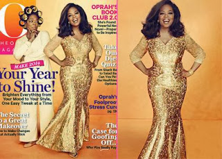 Oprah Winfrey Fronts O Magazine January 2014 for her 60th Birthday