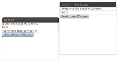 JavaFX example: communication between windows