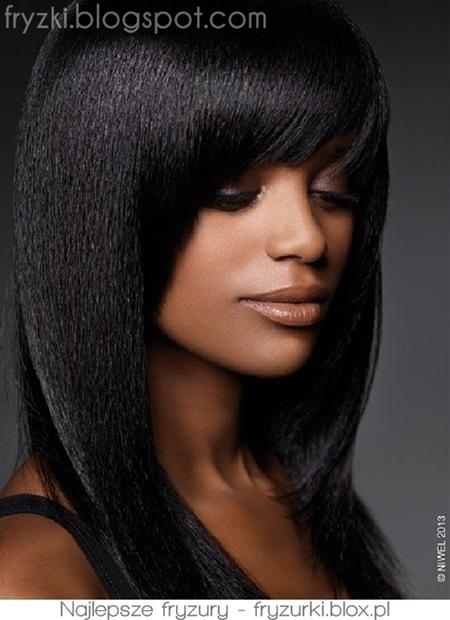 fryzura z grzywką hairstyle with bangs