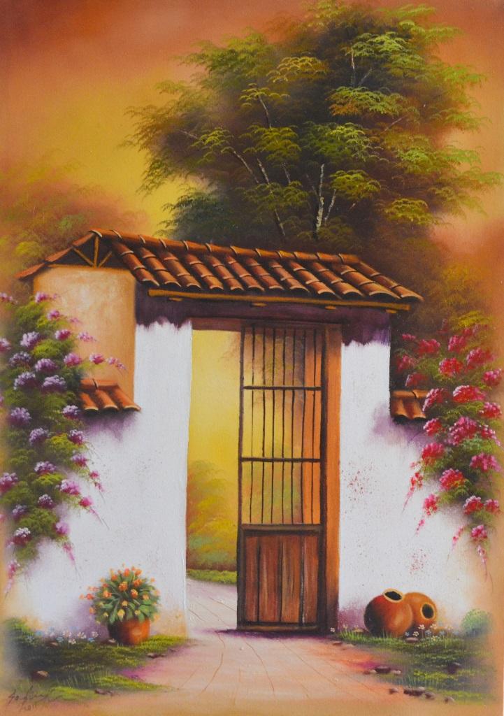 Cuadros modernos pinturas y dibujos paisajes f ciles de for Cuadros de oleo modernos