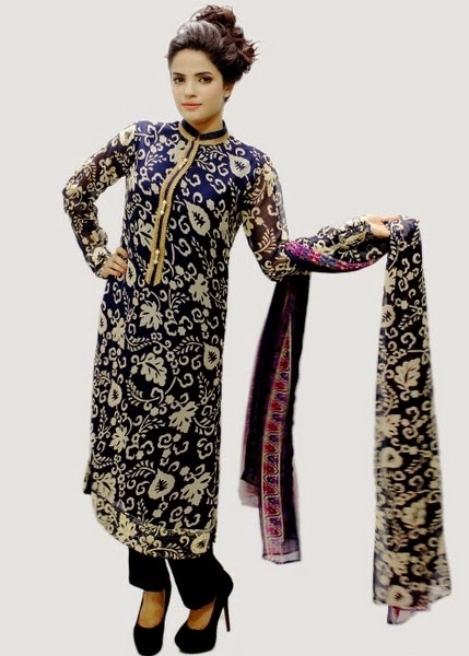 Deepak Perwani Eid Dresses 2014 for Girls
