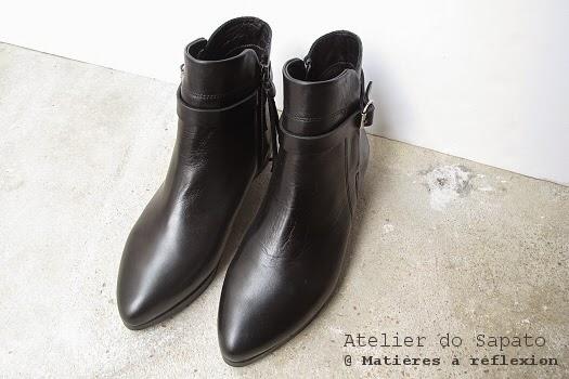 Bottines noires sangle Atelier do Sapato