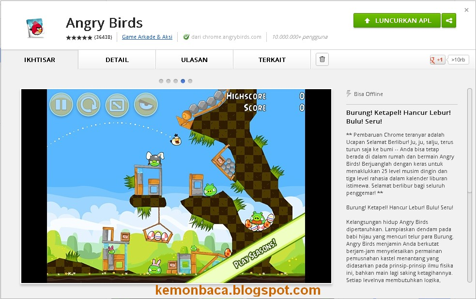 angry bird offline