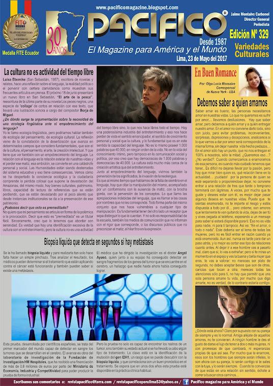 Revista Pacífico Nº 329 Variedades culturales
