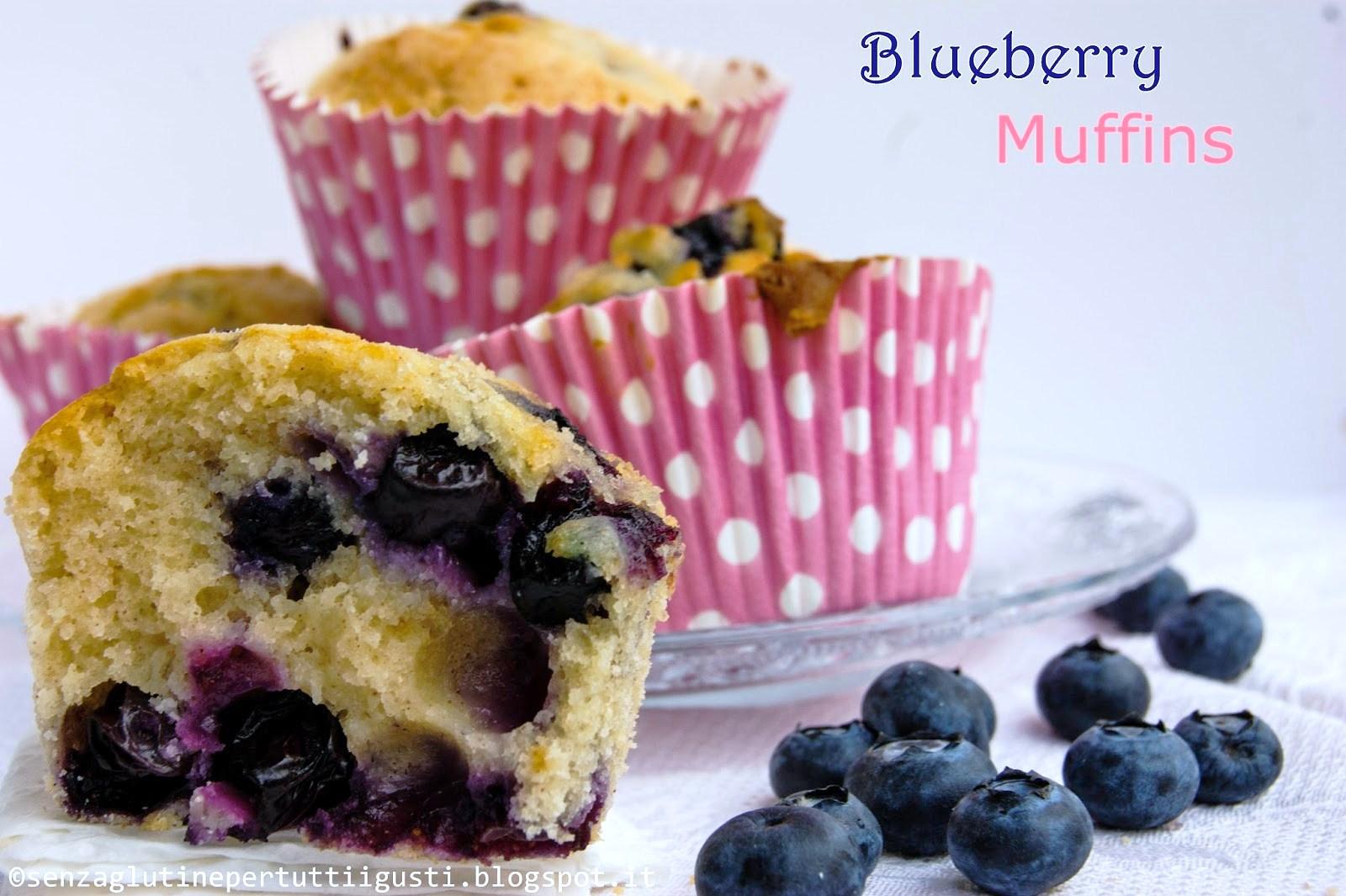 blueberry muffins; i muffins ai mirtilli senza glutine di laurel evans