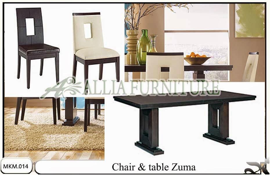 set kursi meja makan minimalis model zuma